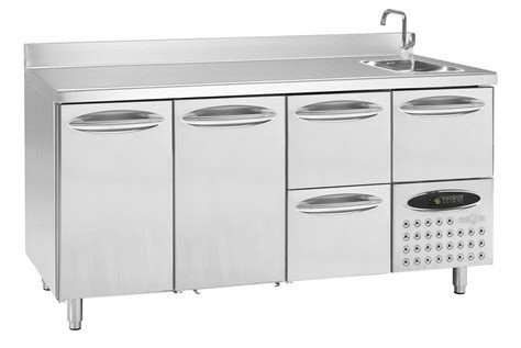 Furniture: Chic Stainless Steel Prep Table For Kitchen