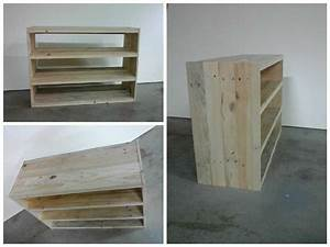 étagère En Palette : etag re en bois de palette pallet shoes shelf 1001 pallets ~ Dallasstarsshop.com Idées de Décoration