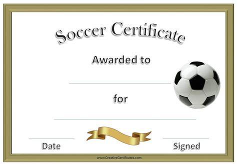 sample soccer certificate templates printable