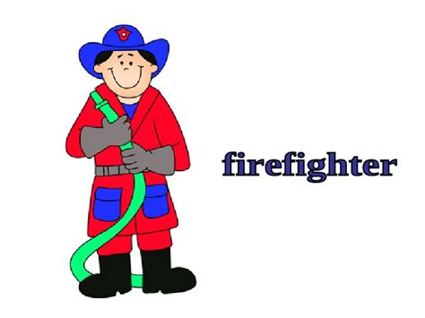 Firefighter Clipart Community Helper  Pencil And In Color
