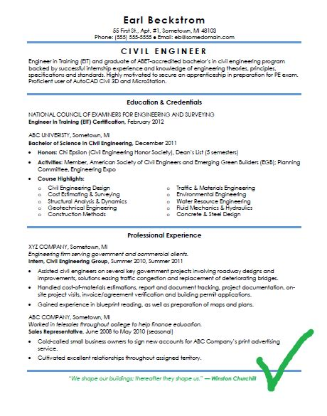 cv and resume format for civil engineers in docx