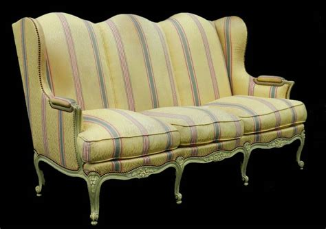 Recovering Settees by 3 Seater Louis Xv Revival Wing Sofa Settee Clean Or