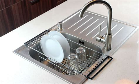 dish drainer rack over sink holder drying kitchen