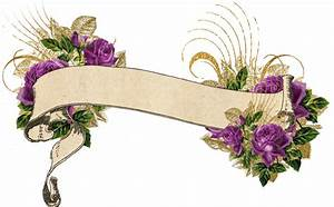 Purple and Gold Vintage Floral Banner by DigitalCurio on ...