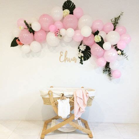 pink and white balloon decorations balloon arch baby shower baby blessing baby shower