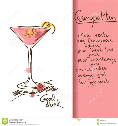 illustration  cosmopolitan cocktail stock