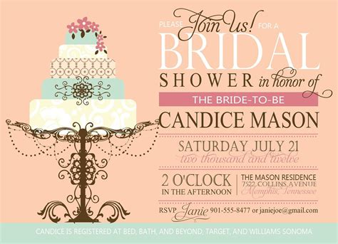 couples wedding shower invitations templates