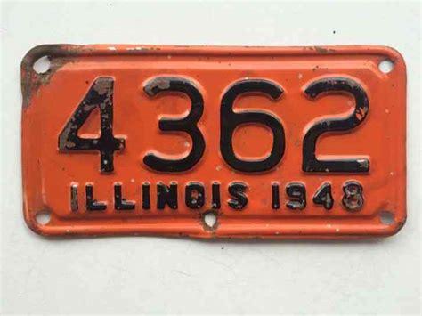 Illinois 1948 Motorcycle License Plate Garage Old Bike Tag