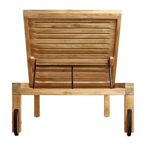 chaise longue teck tiek chaise longue en teck habitat