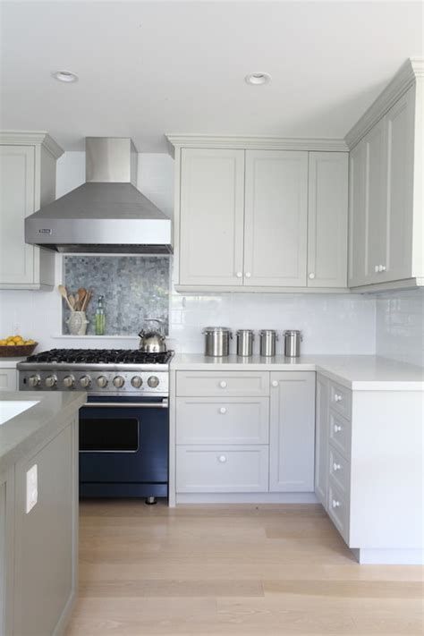 Gray Cabinets   Contemporary   kitchen   Benjamin Moore