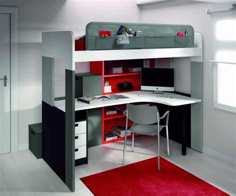 lit mezzanine bureau ado chambres enfants de type modulable et gain de place