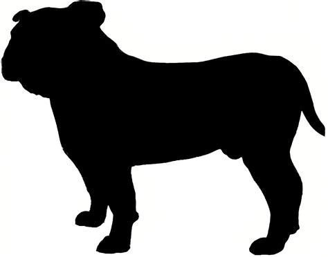 english bulldog silhouette  images dog silhouette