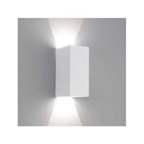 astro 7598 parma 160 led wall light white plaster