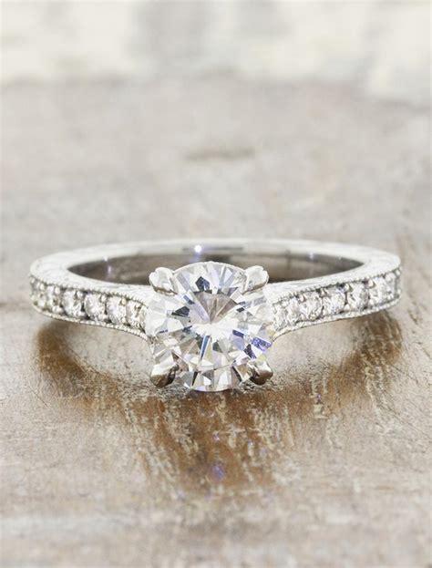 rayna vintage cushion cut diamond ring sapphire accents