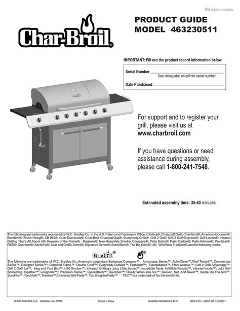 Char Broil Patio Caddie Manual by Char Broil Patio Caddie Product Guide