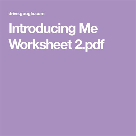 introducing  worksheet   images worksheets