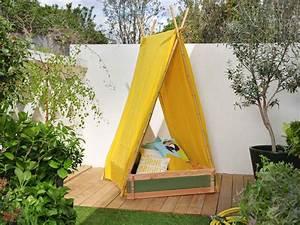 Tipi Enfant Exterieur : diy fabriquer une tente de jeux pour enfants leroy merlin ~ Teatrodelosmanantiales.com Idées de Décoration