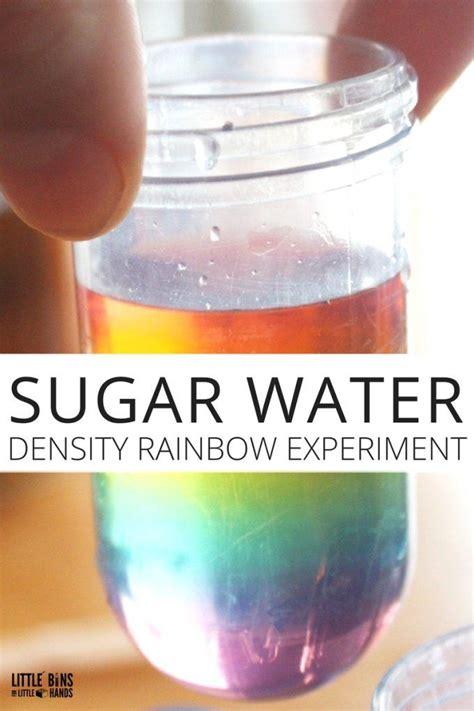 rainbow   jar water density experiment cool science