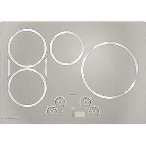 ge monogram  silver gzhursjss electric cooktop rangetop silver induction cooktop