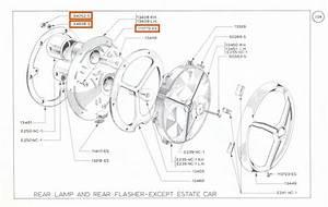 Mk1 Cortina Rear Light Cluster    Lamp Fixing Bolt Set Gt
