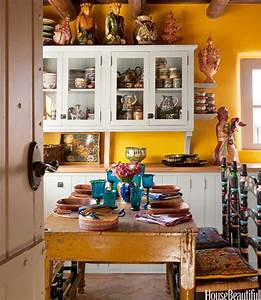 yellow kitchen with santa fe style southwest kitchen decor With what kind of paint to use on kitchen cabinets for southwest wall art decor