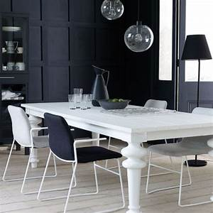Modern black and white dining room dining room dining for Modern dining room black and white