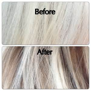 Gray Hair with Blonde Highlights and Lowlights