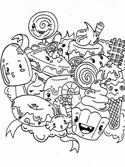 Coloring Candyland Pages Candy Printable Drawing Colouring