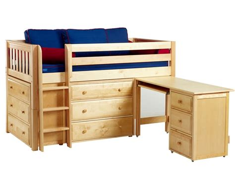 maxtrix box1 low loft bed with desk and dressers bed