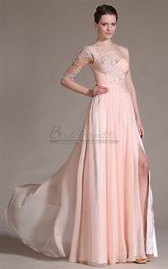 Light Pink Lace Mother Of The Bride Dress One Shoulder Chiffon Pearl Pink Long Bridesmaid Dress Jt