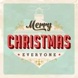 Retro Merry Christmas Card | Library vector clipart photo