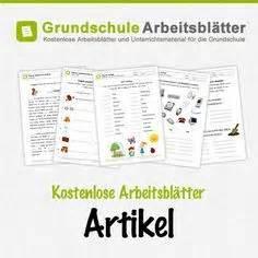 Kostenlose Arbeitsblätter Und Unterrichtsmaterial Für Den Deutschunterricht Zum Thema Artikel