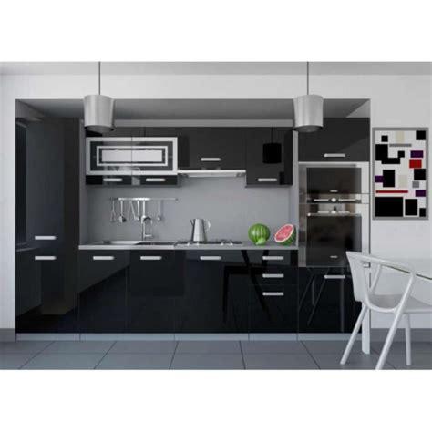 cuisine blanc laque pas cher justhome infinity cuisine 233 quip 233 e compl 232 te 300 cm couleur noir blanc laqu 233 haute brillance