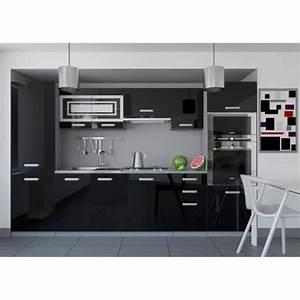 Justhome infinity cuisine equipee complete 300 cm couleur for Meuble de salle a manger avec cuisine equipee noir laque pas cher