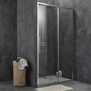 porte de douche coulissante sensea purity 3 verre With porte coulissante douche 120 leroy merlin
