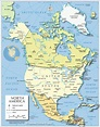 Political Map of North America (1200 px) - Nations Online ...