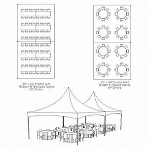 20 X 40 Frame Tent Table  U0026 Chair Layout
