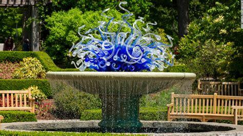 botanic gardens add art exhibits  chihuly
