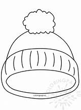 Hat Winter Coloring Template Printable Kindergarten Drawing Coloringpage Pom Templates Sheets Printables sketch template