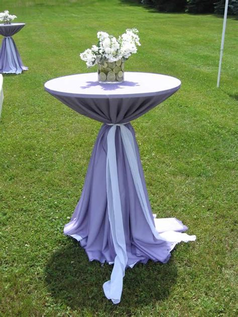 high top cocktail table cloths hightop tables in purple linens lavender mint garden