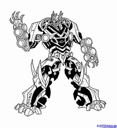 Transformers Soundwave Coloring Draw Drawing Step Clipart