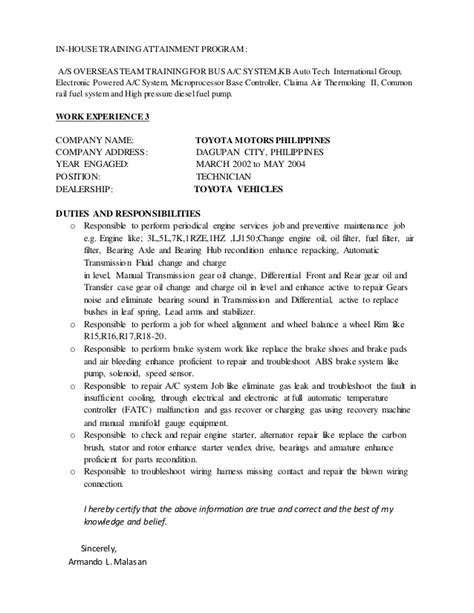 field service engineer cover letter exles sle resume maintenance technician sarahepps