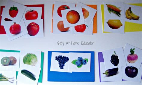 eight food and nutrition theme preschool activities 848 | Food Color Sort Stay At Home Educator 1000x595