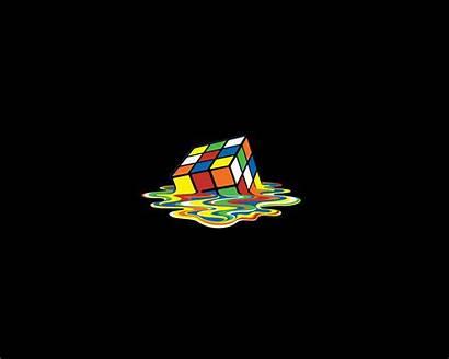 Cube Rubik Melting Wallpapers Rubiks Background Desktop
