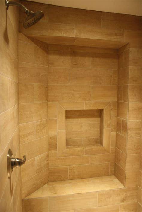 wood tile shower images  pinterest wood tile