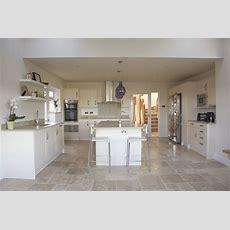 Stylish Kitchen Worktop And Matching Natural Stone Floor