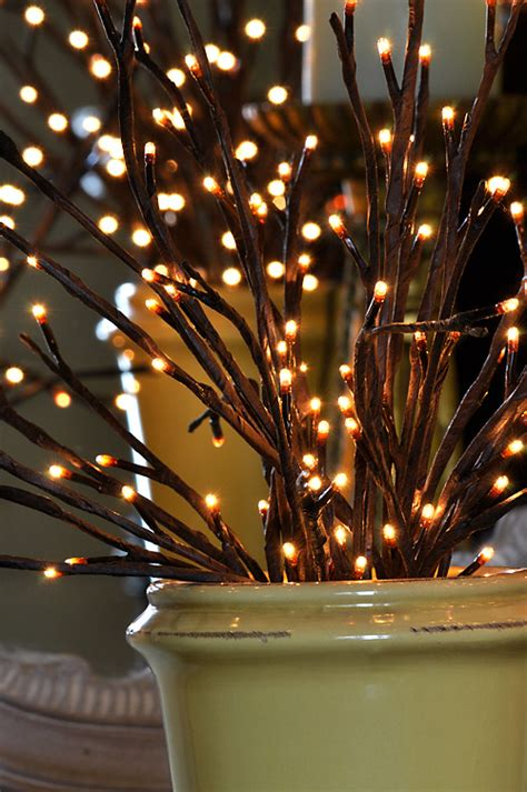 lighted willow branch  bulb  stems   light garden