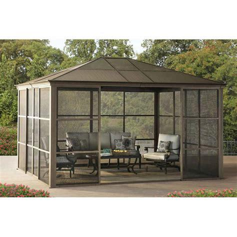 12 14 hardtop gazebo metal steel aluminum roof outdoor for patio room 715939579946 ebay