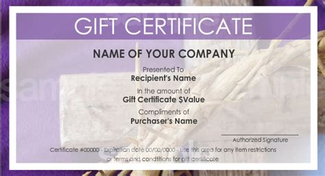 Make Your Own Gift Certificate Template by Gift Certificate Templates To Make Your Own Certificates