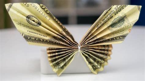 money gift idea butterfly dollar bill origami tutorial